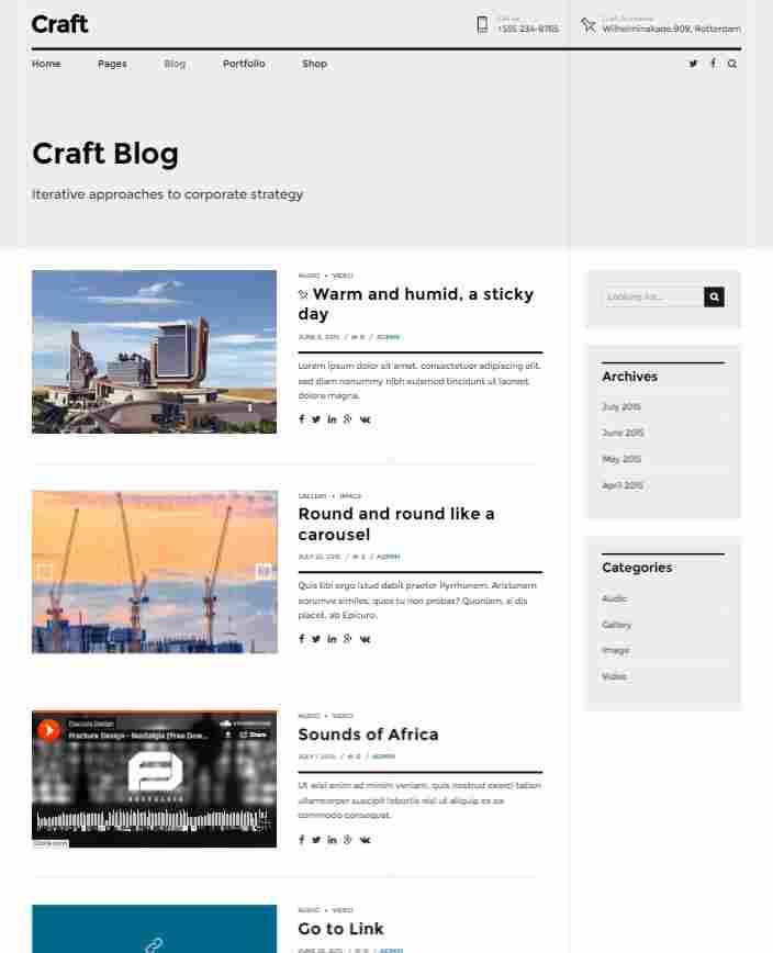 Blog Columns